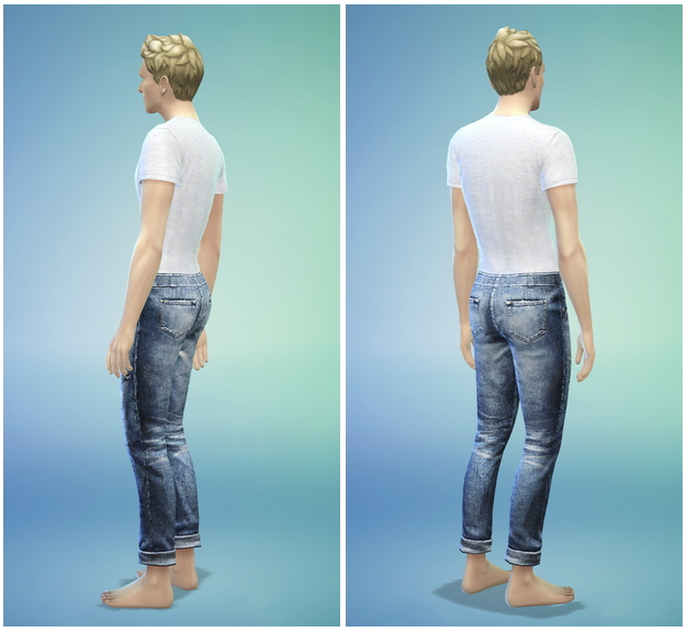 T shirt and jeans default replacement by Rusty Nail image 101 Sims 4 Updates