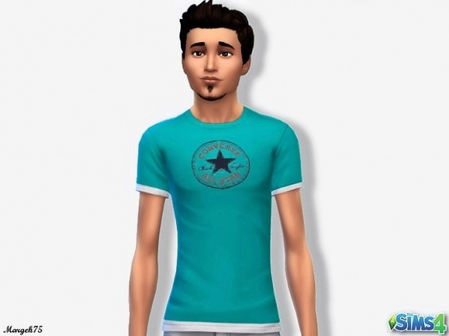 Sims 4 Converse T shirt for Males by Margeh75 at Sims 3 Addictions