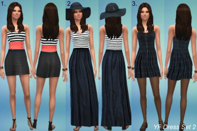 YF dresses set 2 at Jietia Creations image 107 1 650x432 Sims 4 Updates