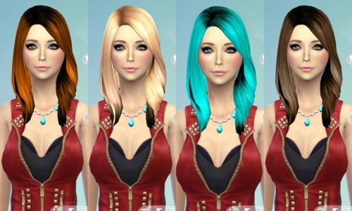 Sims 4 Non default Hair Recolor Part 2 at Darkiie Sims4