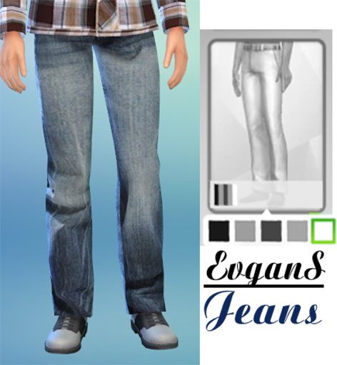 Sims 4 Checkered Shirt (Non Default), Lenses and Jeans at Evgans