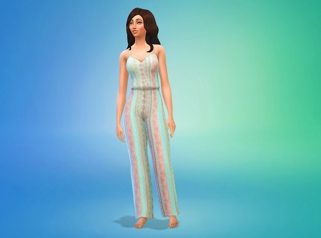 Sims 4 Patterned Jumper Default Replacements at Seventhecho