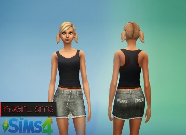 4 Button Denim Skirt at NyGirl Sims image 188 650x471 Sims 4 Updates