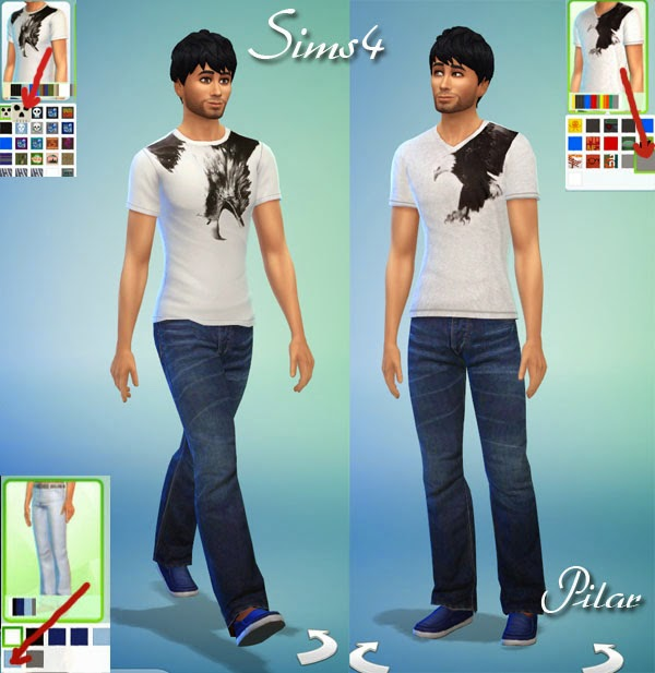 T shirts and dress by Pilar at SimControl image 199 Sims 4 Updates