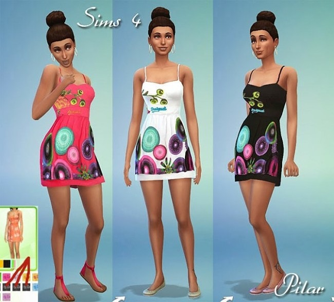 T shirts and dress by Pilar at SimControl image 2011 650x588 Sims 4 Updates