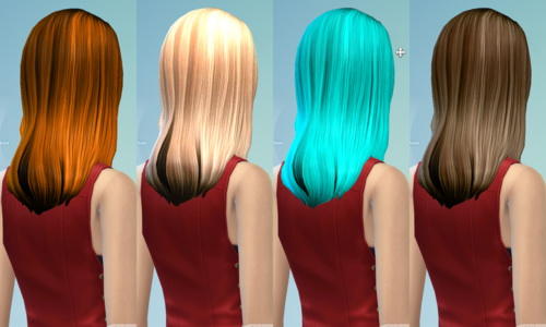 Non default Hair Recolor Part 2 at Darkiie Sims4 image 2100 Sims 4 Updates