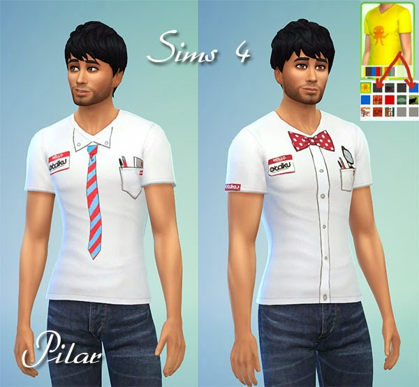T shirts and dress by Pilar at SimControl image 2112 Sims 4 Updates