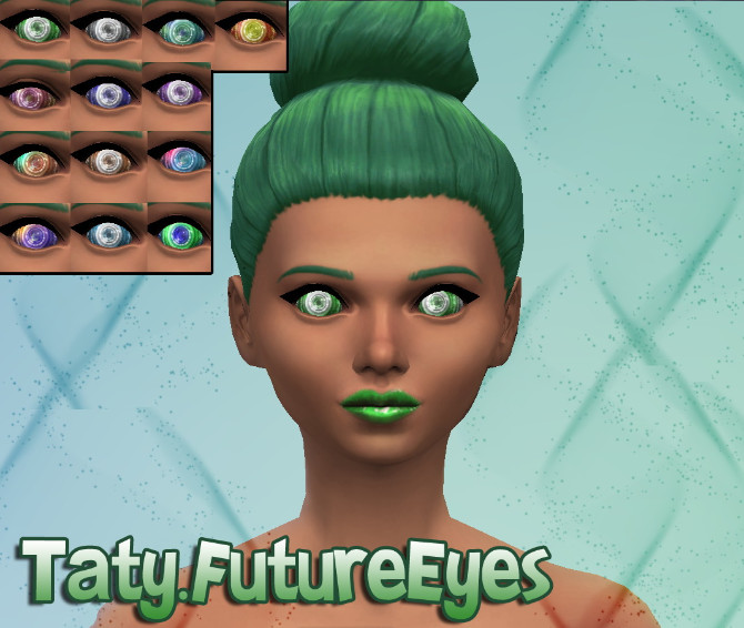 Sims 4 Dragon and Future eyes default at Taty – Eámanë Palantír