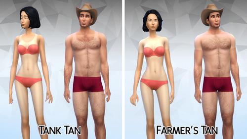 Sims 4 Tank tan and farmers tan at LumiaLover Sims