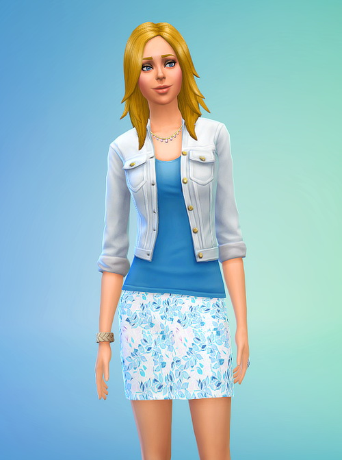 Sims 4 Non Default Blue Floral Mini Skirt at Seventhecho