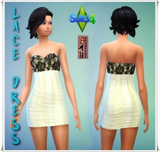 Sims 4 Lace Dress at Annett's Sims 4 Welt