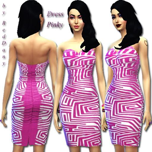 Sims 4 Dress Pinky at Dany's Blog