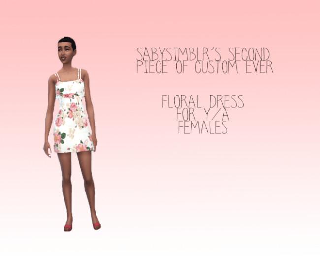 Floral dress at Sabysim image 26 1 650x520 Sims 4 Updates