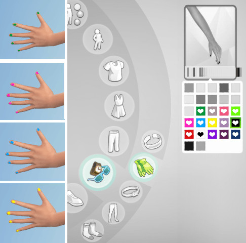 Non Default Nail Polish   14 Colors at Alazarrazr image 271 1 Sims 4 Updates