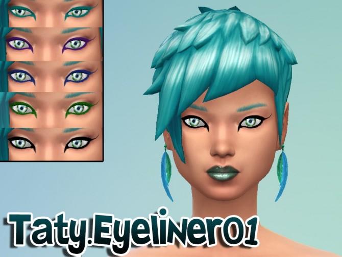 Sims 4 Eyeliner 01 at Taty – Eámanë Palantír