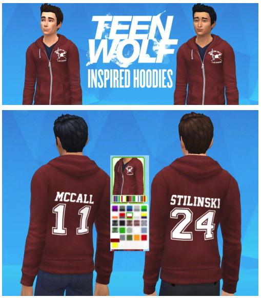 TeenWolf inspired hoodie at Matt In Simblrland image 284 Sims 4 Updates