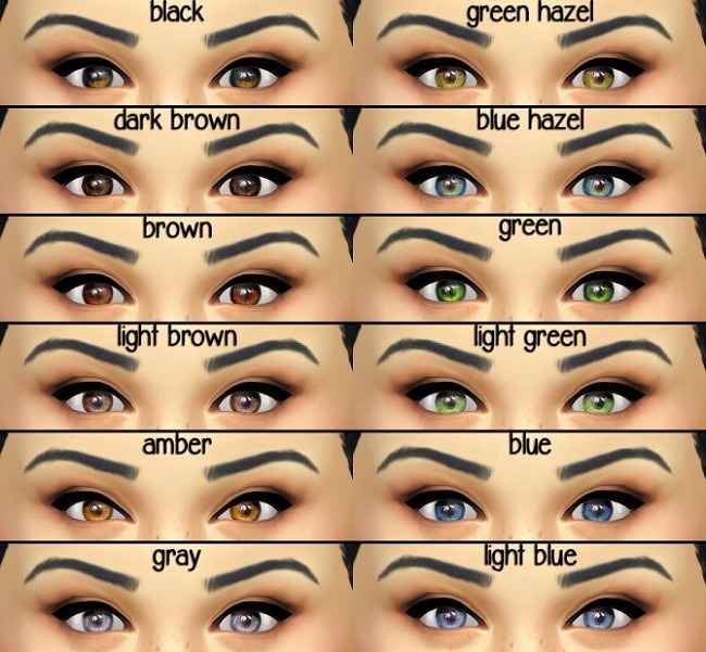 Default Replacement Eyes at Seventhecho image 295 650x601 Sims 4 Updates