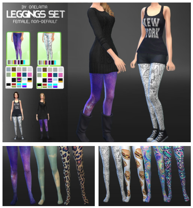 LEGGINGS SET at Onelama image 305 Sims 4 Updates