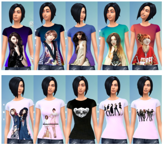 11 Female 4Minute Recolors at Darkiie Sims4 image 3113 Sims 4 Updates