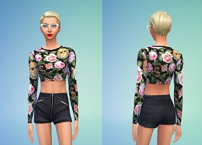 Sims 4 Joy Rich Angelic Rich Floral at Sims 4 Sweetshop