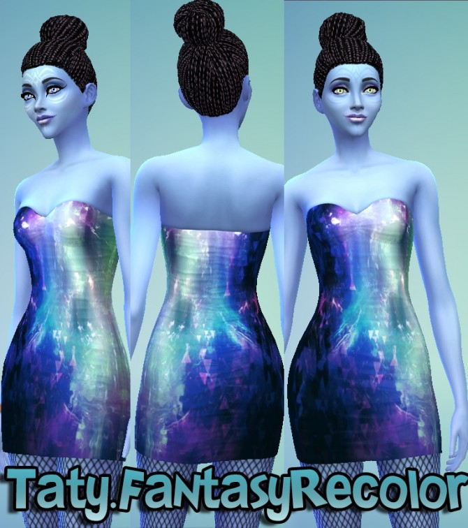 Sims 4 Fantasy dress not default recolor at Taty – Eámanë Palantír