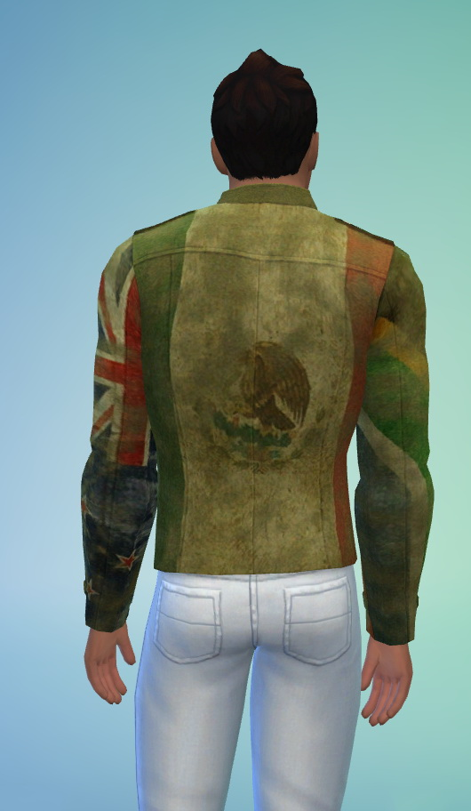 Military Jacket Depicts 4 Flags At Kiwi Sims 4 187 Sims 4 Updates