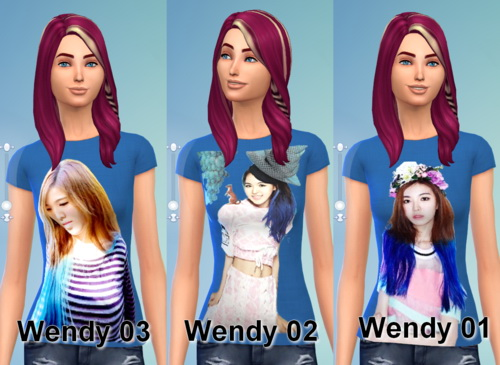 Sims 4 Red Velvet T Shirt recolors at Darkiie Sims4