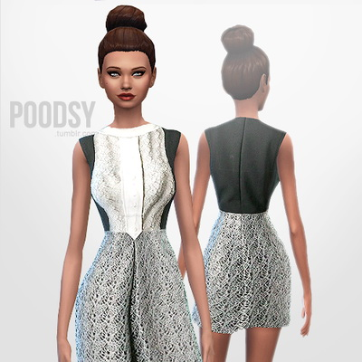 Sims 4 Default dress at Poodsy