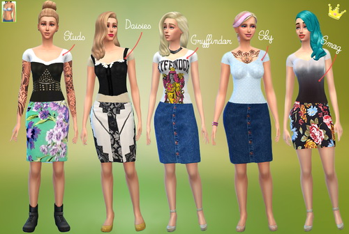 Sims 4 5 not so short not so long shirts at In a bad Romance