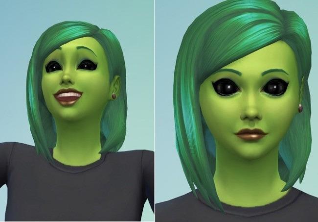 Non default alien eye color at Nicks Place image 352 650x453 Sims 4