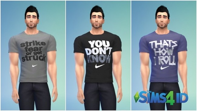 Sims 4 Male T Shirts by David Veiga at The Sims 4 ID