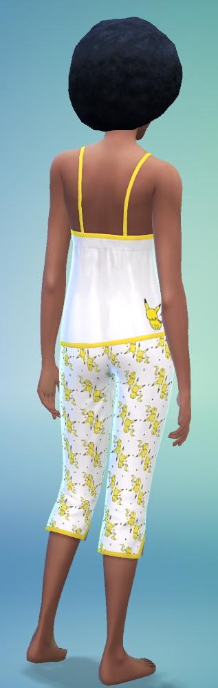 Sims 4 Pikachu pajamas and sundress at SimFeetUnder