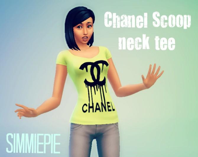 Sims 4 Non default Scoop Neck Tee at SimmiePie