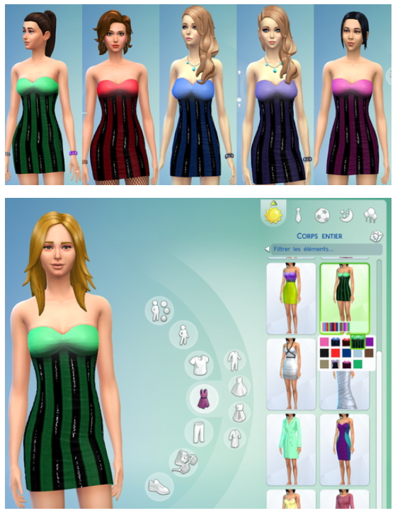 Non default Glitter Dress set at Darkiie Sims4 image 381 Sims 4 Updates