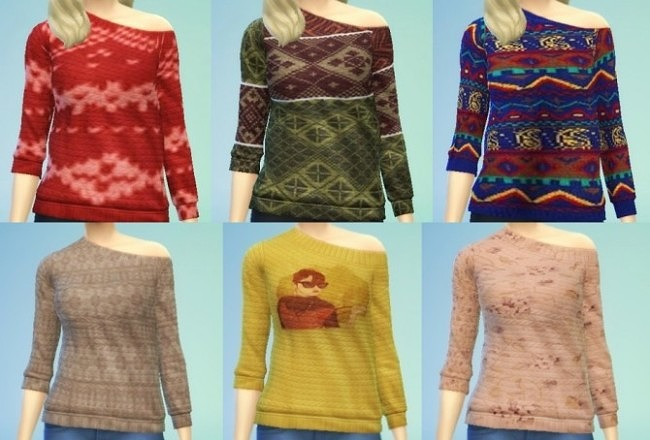 Sweater recolors at Magali Descargas Sims image 382 650x440 Sims 4 Updates