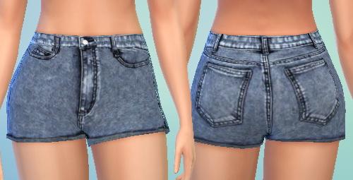Sims 4 High Waisted Denim Shorts at Puresims