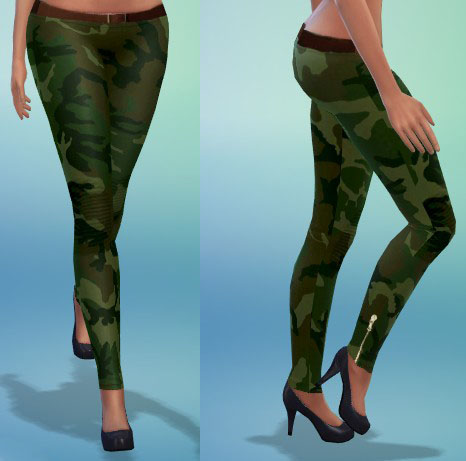 Camouflage Legggings At Ts4 Couture 187 Sims 4 Updates