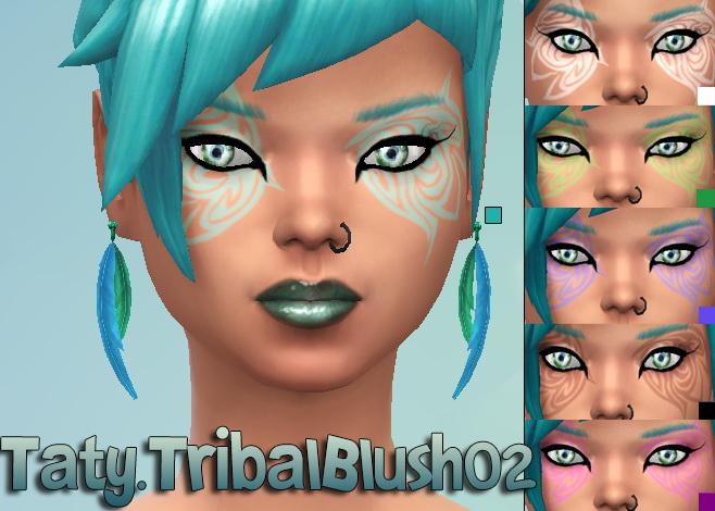 Sims 4 Tribal blush 02 at Taty – Eámanë Palantír