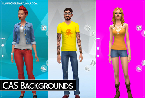 Sims 4 Custom CAS Backgrounds 19 flavours! by LumiaLover Sims