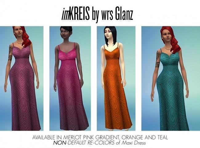 Sims 4 Non defaul recolors of maxi dress at Ecoast
