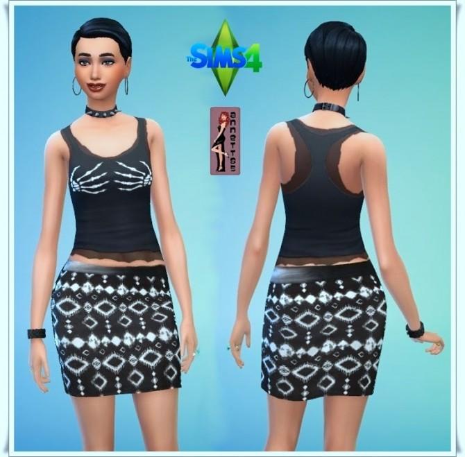 Sims 4 Black Top & Skirt at Annett's Sims 4 Welt