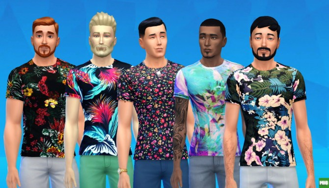 Tropical Shirts at Matt In Simblrland image 4611 Sims 4 Updates