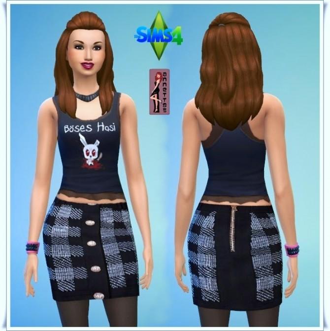 Black Top & Skirt at Annett's Sims 4 Welt image 469 Sims 4 Updates