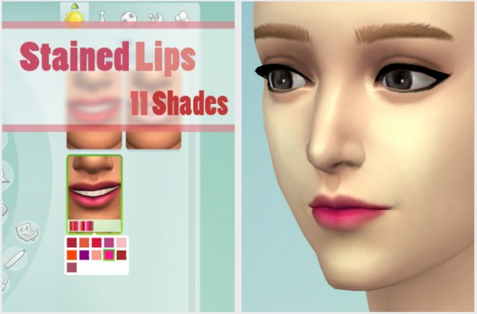 Sims 4 11 Shades of Lip Stains at JSBoutique