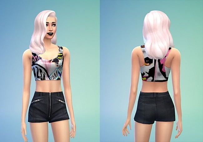 Tom Toms Top and Leather Shorts at Sims 4 Sweetshop image 48 650x455 Sims 4 Updates