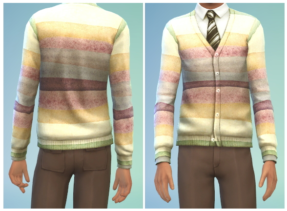 Sims 4 6 Male Cardigan Recolors at The Simsperience