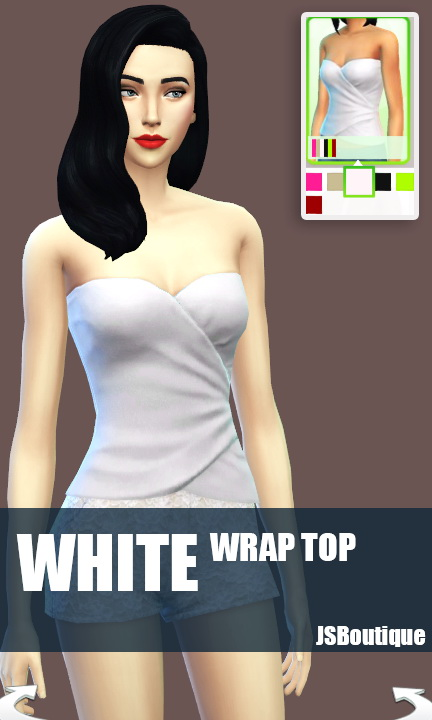 White versions of 7 clothing items at JSBoutique image 495 Sims 4 Updates