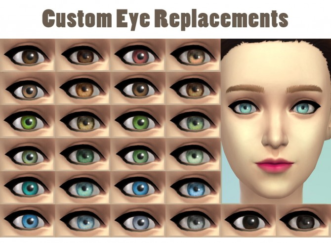 Sims 4 Custom Eye Replacements at JSBoutique