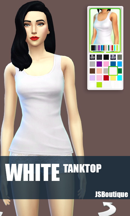 White versions of 7 clothing items at JSBoutique image 507 Sims 4 Updates