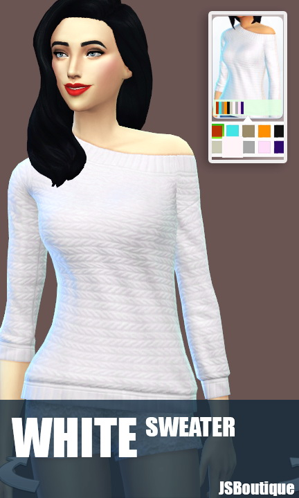 White versions of 7 clothing items at JSBoutique image 5112 Sims 4 Updates